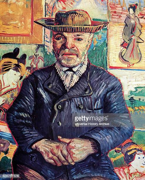 Painting titled 'Portrait of Pere Tanguy' by Vincent van Gogh a Dutch PostImpressionist painter Dated 19th Century
