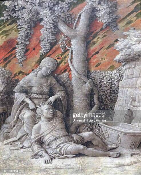 Painting titled 'Samson and Delilah' by Andrea Mantegna an Italian painter and student of Roman archaeology Dated 15th Century