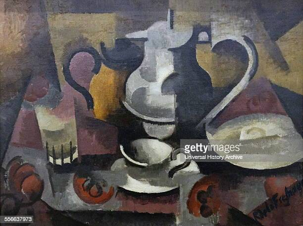 Painting titled 'Still life with three handles' by Roger de La Fresnaye French cubist painter Dated 1912