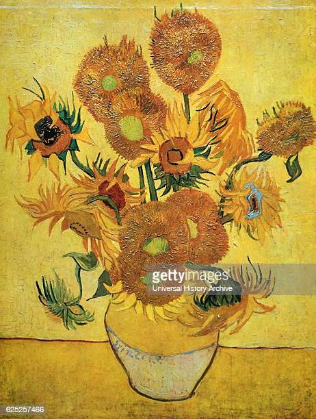 Painting titled 'Sunflowers' by Vincent van Gogh a Dutch PostImpressionist painter Dated 19th Century
