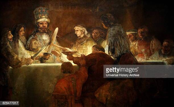 Painting titled 'The Conspiracy of the Batavians under Claudius Civilis' Painted by Rembrandt Harmensz van Rijn Dutch painter and etcher Dated 17th...