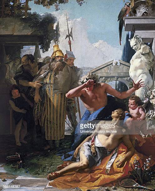 Painting titled 'The Death of Hyacinthus' by Giovanni Tiepolo Dated 18th Century