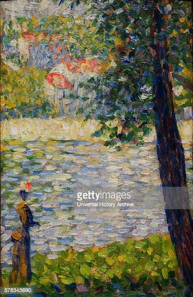 Painting titled 'The Morning Walk' by GeorgesPierre Seurat a French postImpressionist painter and draftsman Dated 19th Century