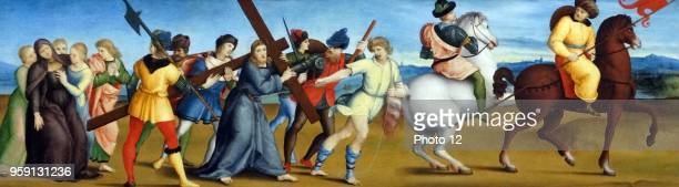 Painting titled 'The Procession to Calvary' by Raffaello Sanzio da Urbino an Italian painter and architect of the High Renaissance. Dated 16th...