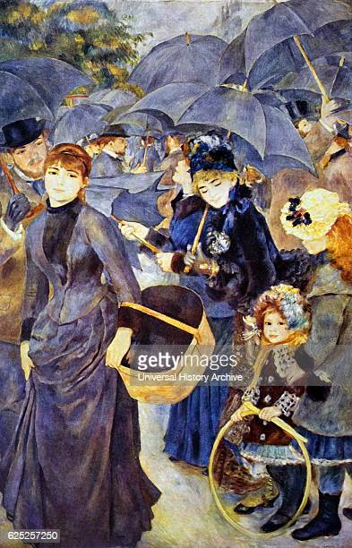 Painting titled 'The Umbrellas' by PierreAuguste Renoir a French artist Dated 19th Century