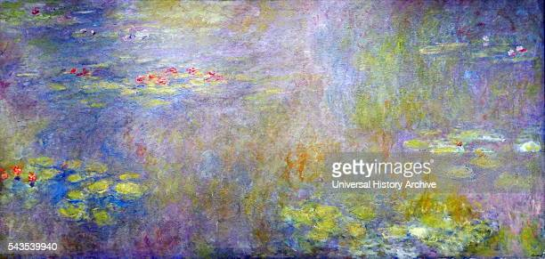 Painting titled 'WaterLilies' by Claude Monet French Impressionist painter Dated 19th Century