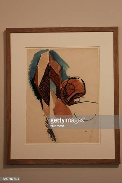 Painting Étude pour quotTrois femmesquot by Pablo Picasso during Pablo Picasso exhibition held in Rio de Janeiro File image produced on October 14...