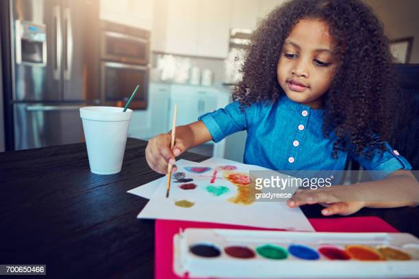 Painting with all the colors of her imagination