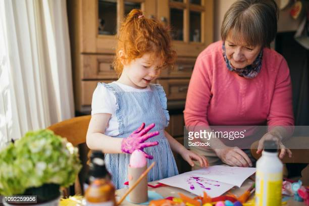 Painting with Grandma