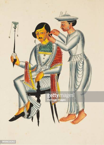 Painting Young Bengali having his ears pierced circa 1845 Dimensions height x width mount 555 x 404 cmheight x width 387 x 28 cmArtist Unknown