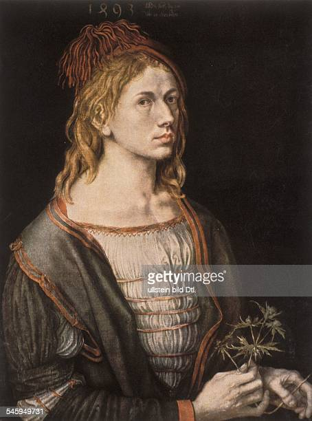 Paintings Albrecht Duerer *2105147106041528 Painter Germany selfportrait at the age of 22 around 1493