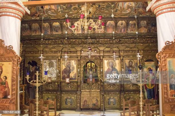 Paintings and icons decorate the Ayios Nikolaos Cathedral