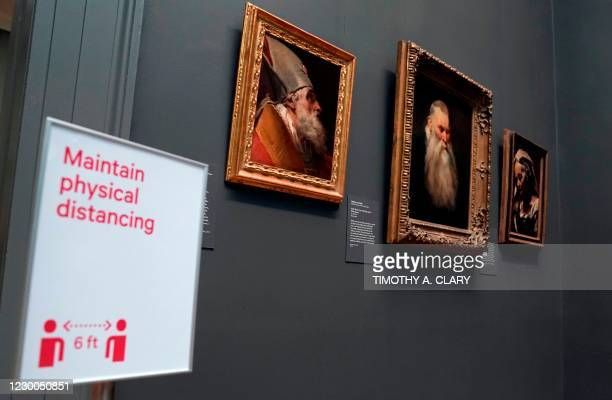 """Paintings are on display during a press viewing of """"A New Look at Old Masters"""" a newly installed gallery for European Paintings, on December 10 at..."""