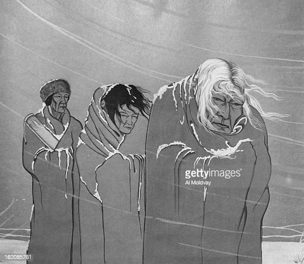 OCT 10 1951 OCT 14 1951 Paintings Bosin Blackbear Trail of Tears