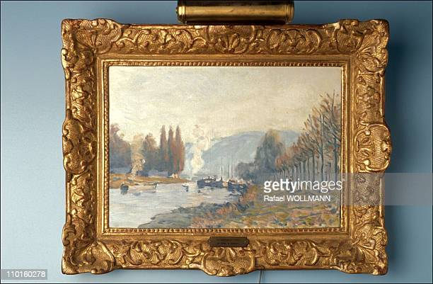 Paintings by Sisley the 'Seine river at Bougival' in the Amalia Fortabat Collection of paintings in Buennos Aires Argentina in January 1996