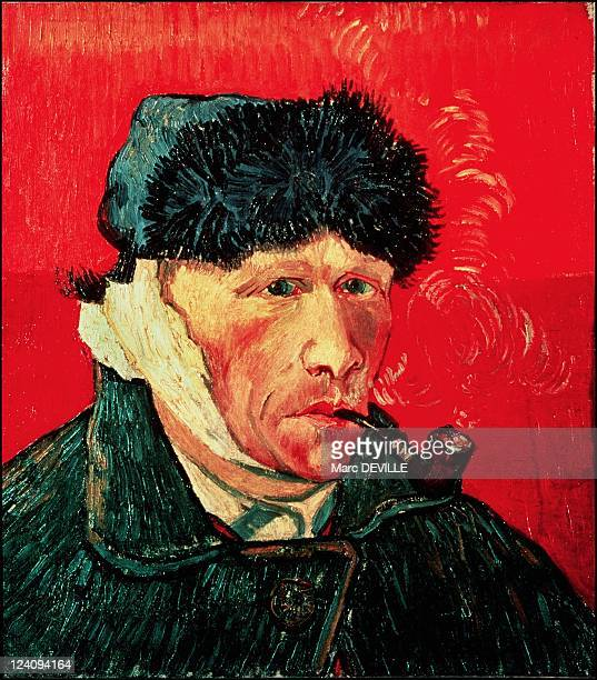 Paintings by Vincent Van Gogh in Paris France In February 1990 The man with his ear cut off