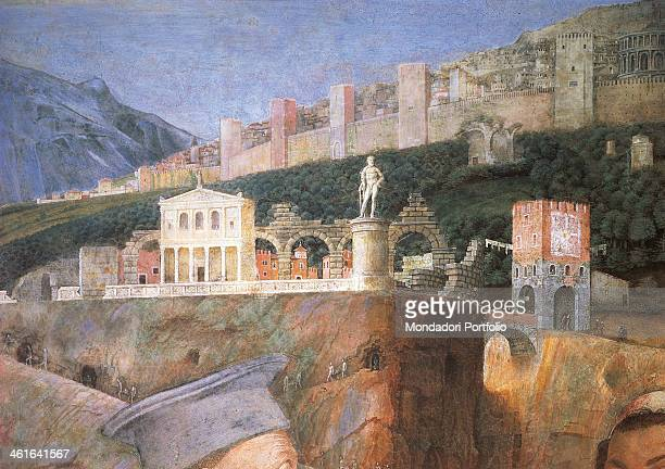 Paintings for the Camera degli Sposi also known as Camera Picta by Andrea Mantegna 1465 1474 15th Century fresco and dry tempera Italy Lombardy...