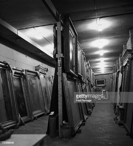 Paintings from the National Gallery in a subterranean chamber at Manod Quarry north Wales September 1942 The gallery's art works have been moved to...