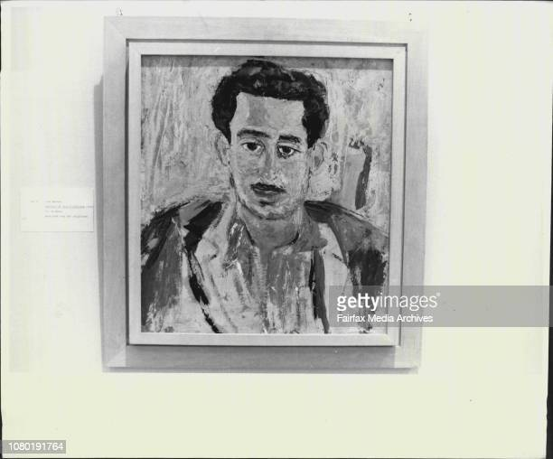 """Paintings from The S.H. Ervin Gallery, National Trust Centre, Observatory Hill.Lina Bryans -- """"Portrait of Philip Freedman"""". May 29, 1986. ."""