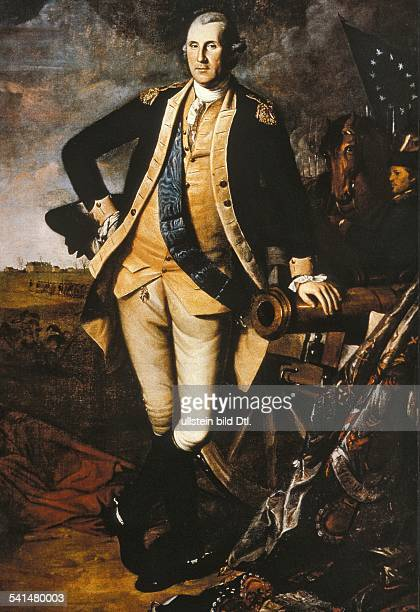 Paintings George Washington *2202173214121799 Politician USA First president of the USA 17891796 as General contemporary painting 18th century
