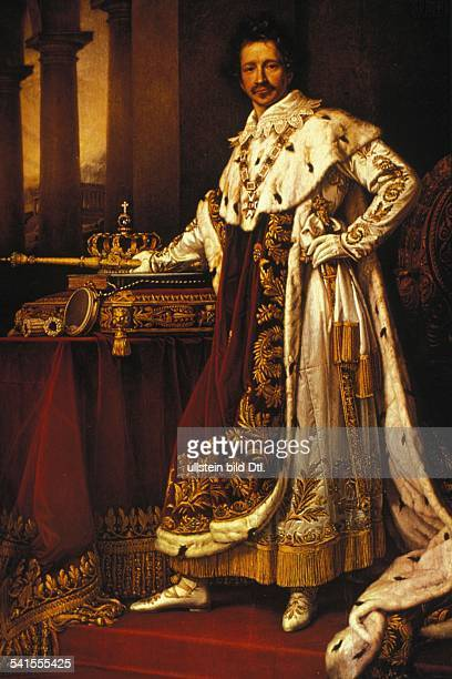 Paintings Louis I 2508178629021868 KIng of Bavaria 1825 1848 Louis in royal regalia painting by J Stieler 1826
