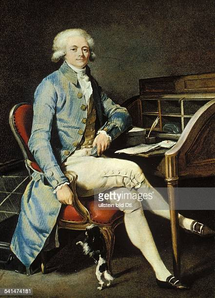 Paintings Maximilien de Robespierre *0605175828071794 Lawyer revolutionary Jacobin France portrait at his desk with a dog portrait by L L Boilly...