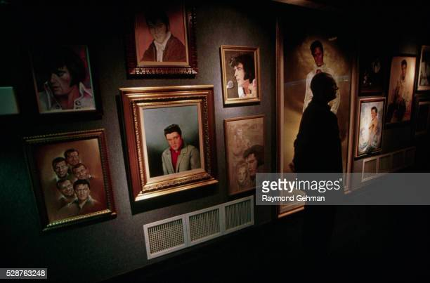 paintings of elvis - graceland stock pictures, royalty-free photos & images