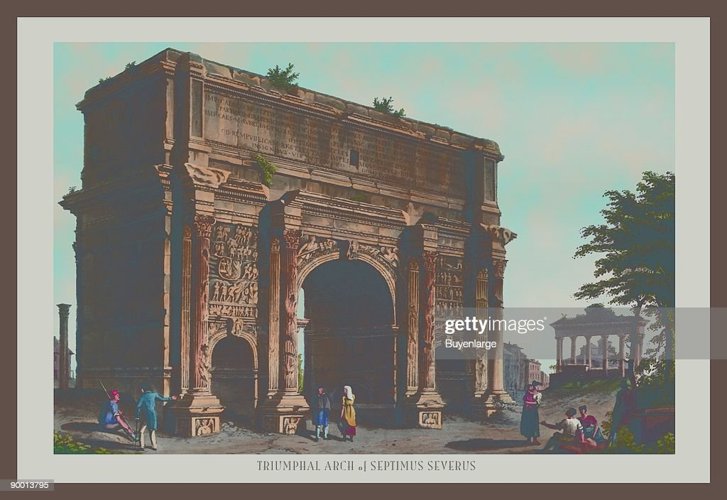 Triumphal Arch of Septimus Severus : News Photo