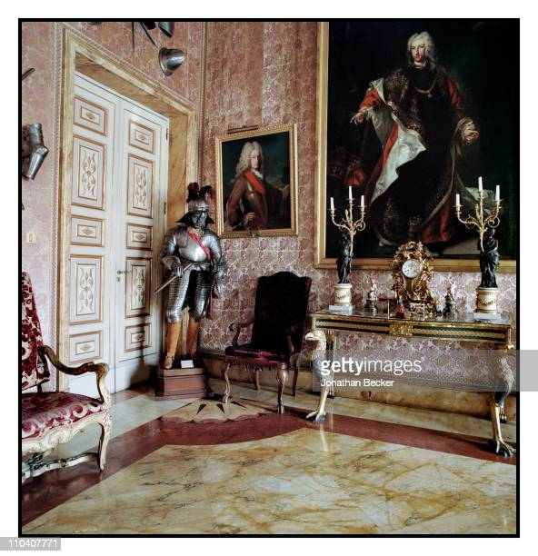 Paintings of the Duke of Berwick are photographed in The Estuardo room of the Palacio de Liria for Vogue Espana on March 15-17, 2010 in Madrid,...