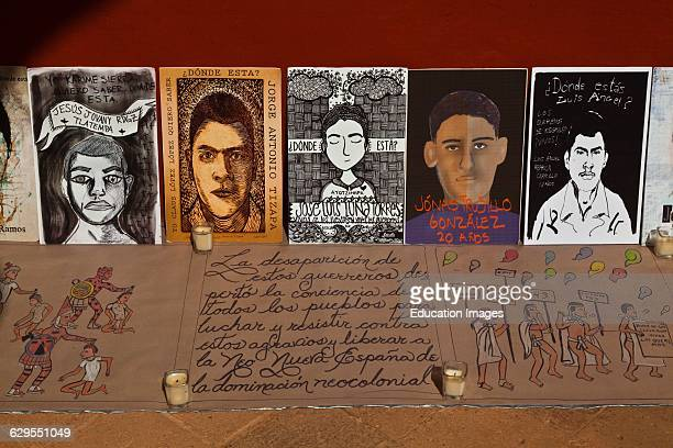 Paintings Of The Mexican Students Who Were Killed And Disappeared In 2014 Oaxaca