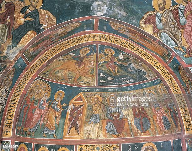 Paintings of Virgin Mary with Abraham Panagia Ties Asinou Church Nikitart Cyprus