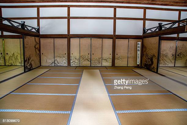 Paintings on the interior byobu of the Kuri the main temple building Ryanji is a Zen temple located in northwest Kyoto The temple and its gardens are...