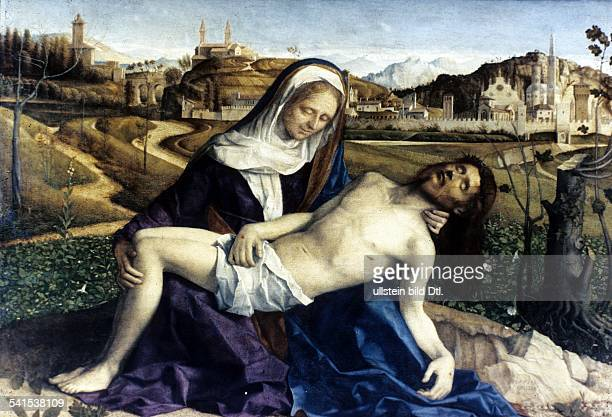Paintings Pieta Mary mourning the dead Christ painting by Giovanni Bellini 1505
