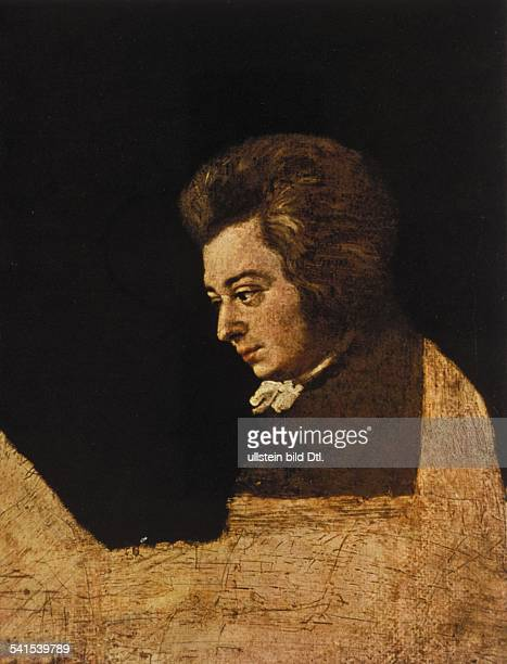 Paintings Wolfgang Amadeus Mozart *2701175605121791 Musician composer Austria portrait painting by Joseph Lange 1782