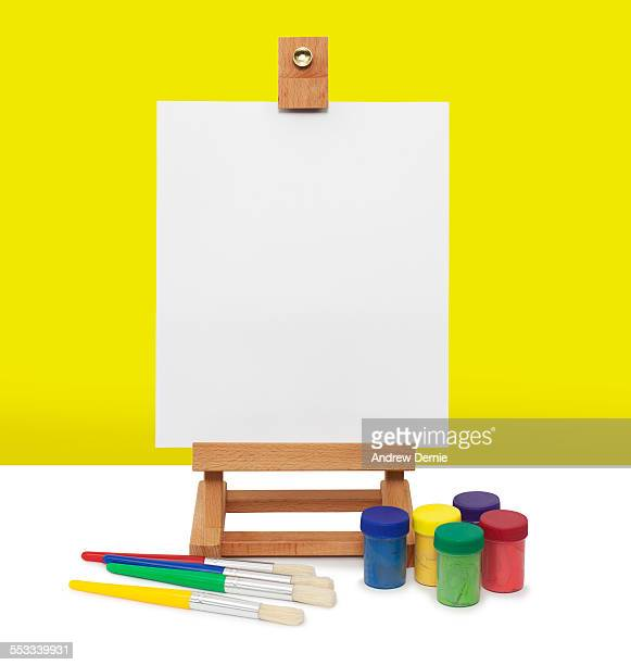 Paints and easel