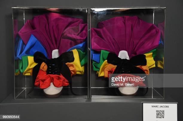 A pair of adidas designed by Marc Jacobs at the adidas 'Prouder' A Fat Tony Project in aid of the Albert Kennedy Trust supporting LGBT youth at Heni...
