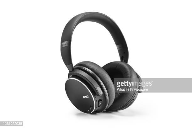 Pair of AKG Y600NC Wireless headphones, taken on August 28, 2020.