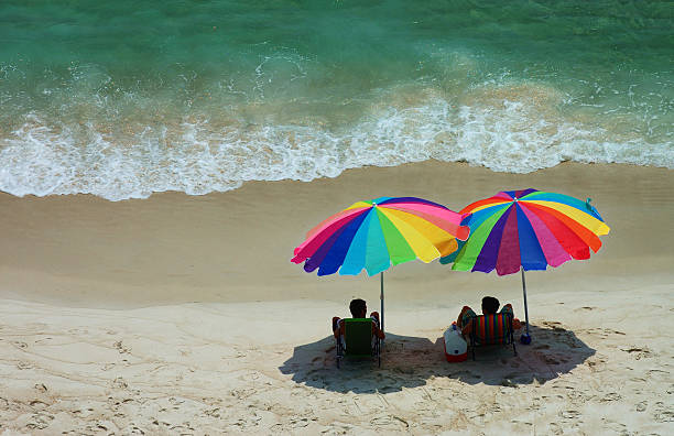 Pair Of Beach Umbrellas Wall Art