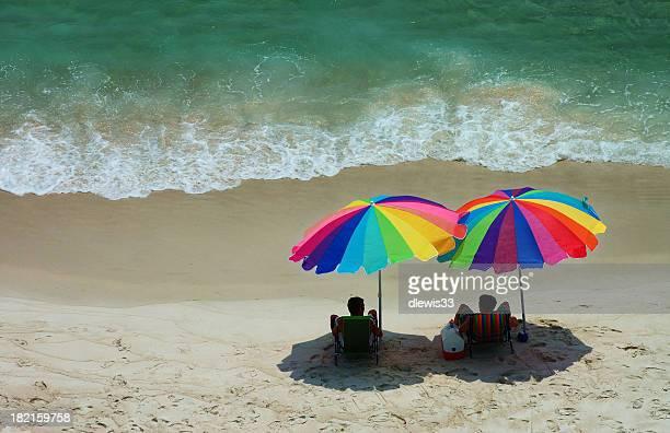 Pair of Beach Umbrellas