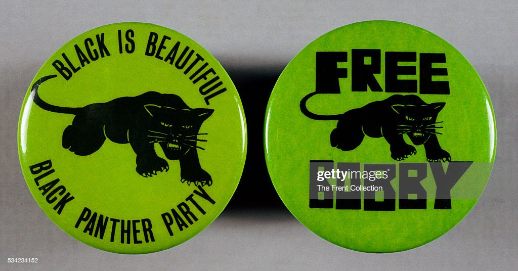 Black Panther Buttons : News Photo