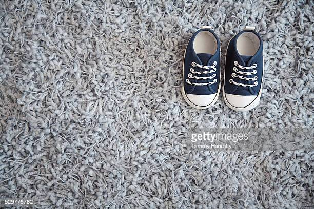 Pair of blue baby's sneakers