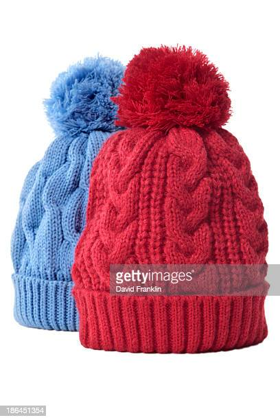Pair of bobble hats