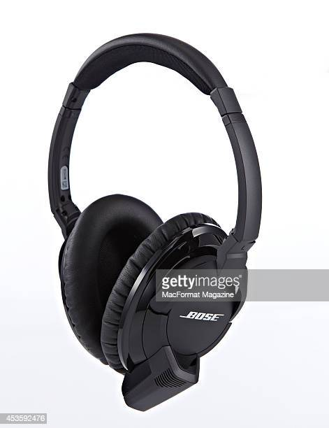 A pair of Bose AE2w headphones photographed on a white background taken on November 1 2013