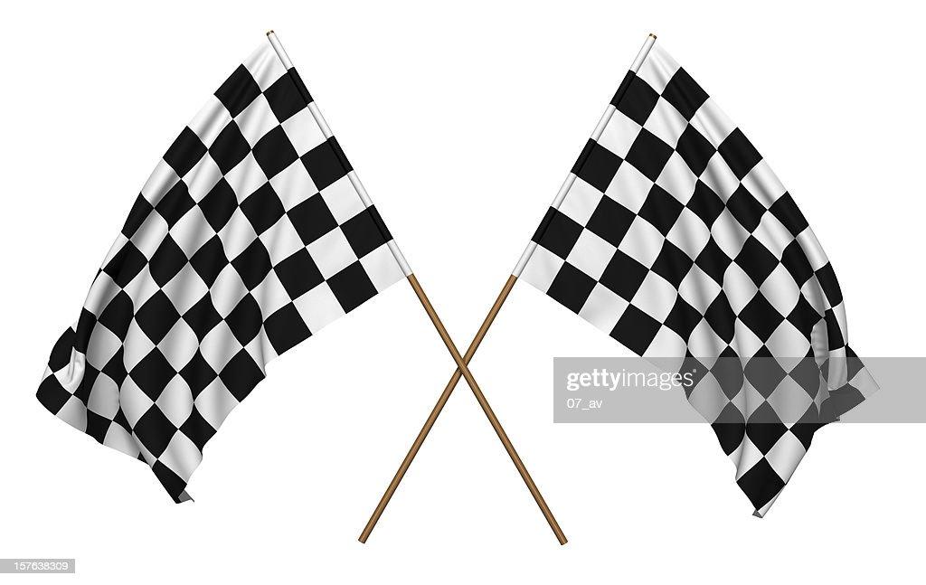 Bandeiras quadriculada : Foto de stock