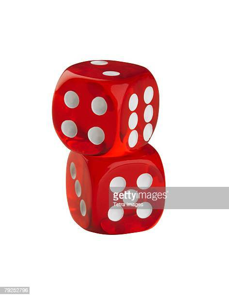 A pair of colorful dice