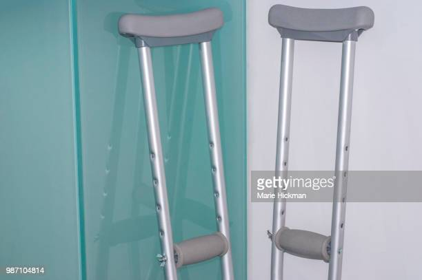 Pair of crutches.