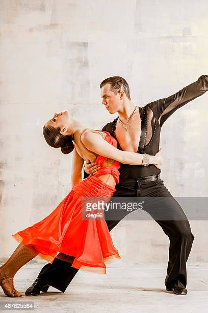 pair of dancers - rumba stock photos and pictures