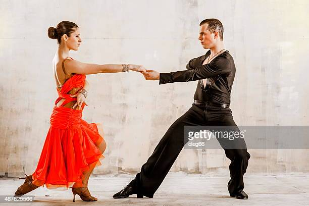 pair of dancers - cha cha stock photos and pictures