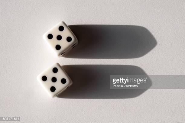 pair of dice - pair stock pictures, royalty-free photos & images