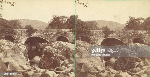 Pair of Early Stereograph Views of British Bridges, 1860s-80s. . Artist Unknown.